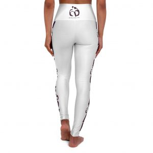 Move Your Body High Waisted Yoga Leggings (White)